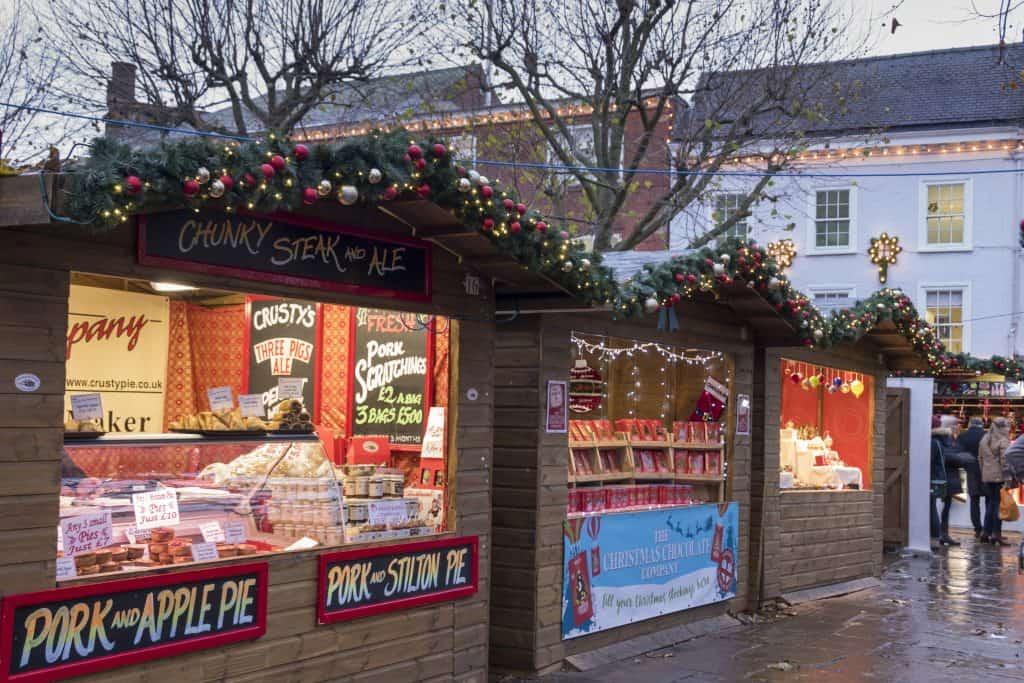 Kerstmarkt in York, Engeland